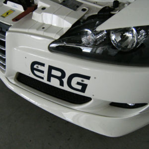 ナンバーを外すと、ERGのステッカーが。 前回貼り付けてたものです。