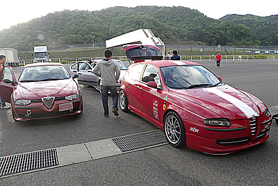 岡山国際サーキット 到着