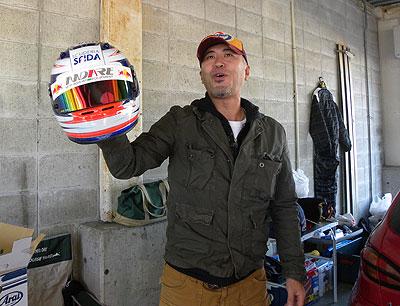 今日はたけ坊さまのヘルメットカラーリング初ご披露☆(ご本人さまもです)