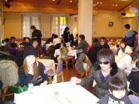 第1回 SIKARRARI 「奈良の街を走ろうゲームラリー」食事風景