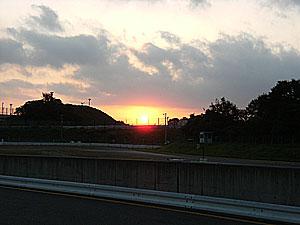 AM6時前、朝日がめっちゃきれいです。